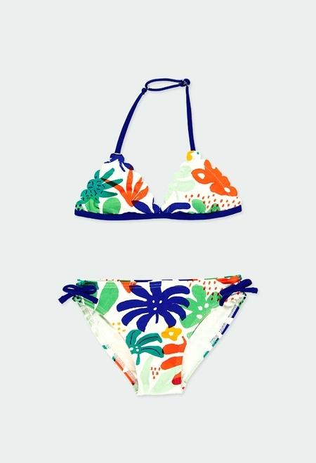 "Bikini ""feuilles"" pour fille_1"