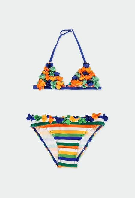 Bikini à rayures pour fille_1