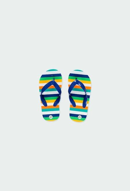 Flip flops striped for girl_1