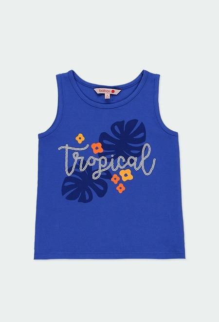 Camiseta punto tropical de niña_1