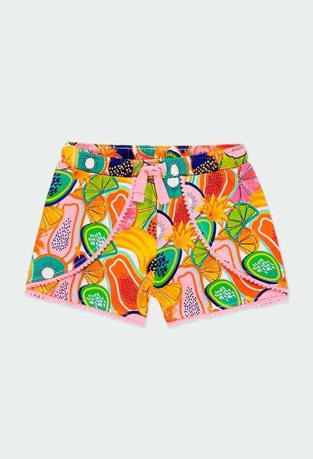 Knit shorts fruits for girl_1