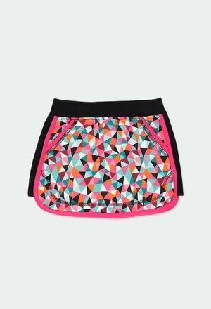 Fleece skirt printed for girl_1
