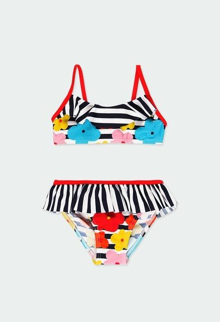 Bikini gestreift für mädchen_1