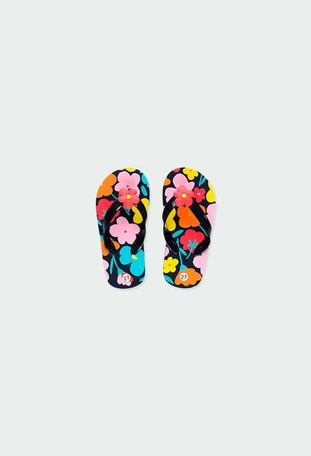Chanclas flores de niña_1
