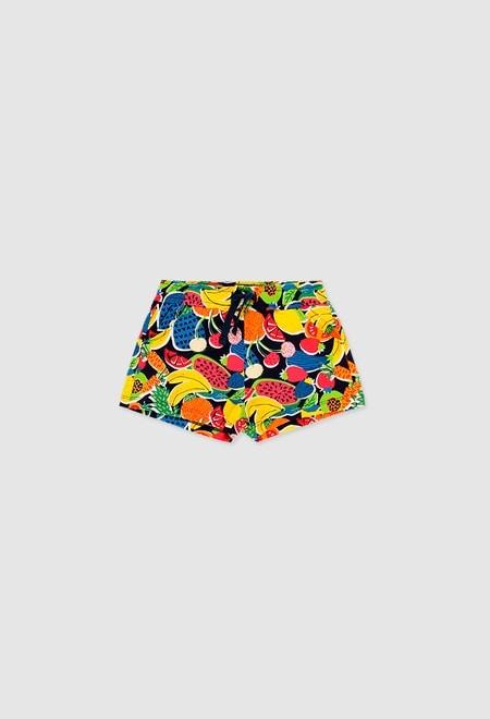 Shorts gestrickt elastich für mädchen_1