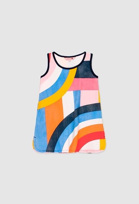 Kleid gestrickt elastisch für mädchen_1