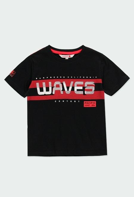 """T-Shirt tricot """"big waves"""" pour garçon_1"""