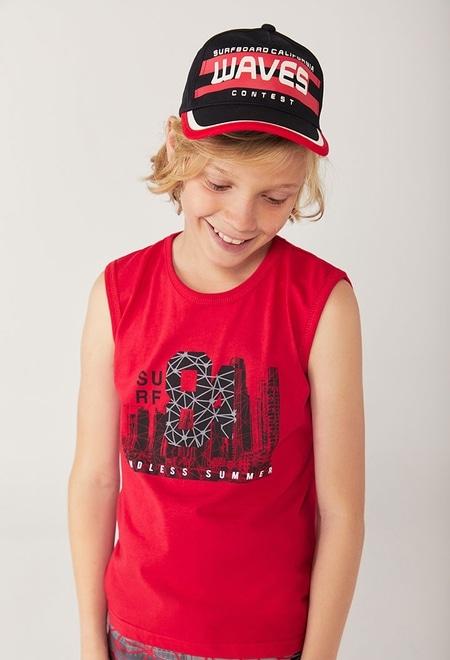 "Camiseta malha ""surfing 84"" para menino_1"