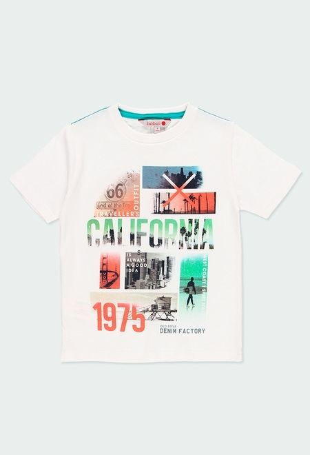 "Knit t-Shirt ""california"" for boy_1"
