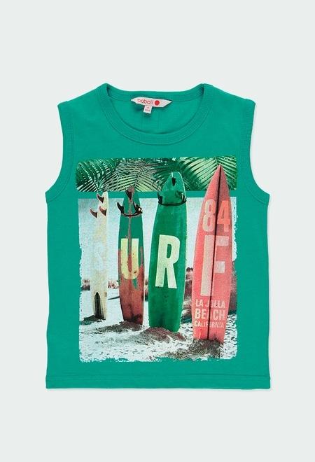 """T-Shirt tricot """"surfing 84"""" pour garçon_1"""