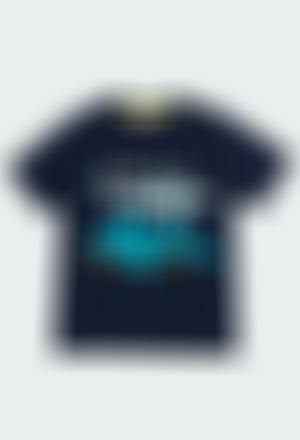 """Camiseta punto """"tiburones"""" de niño"""