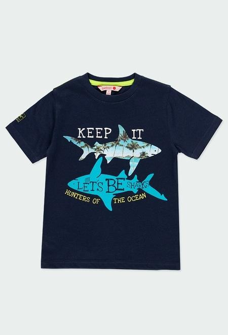 """Camiseta malha """"tubar?es"""" para menino_1"""