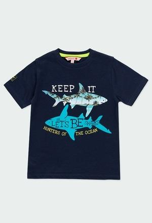 """Camiseta punto """"tiburones"""" de niño_1"""