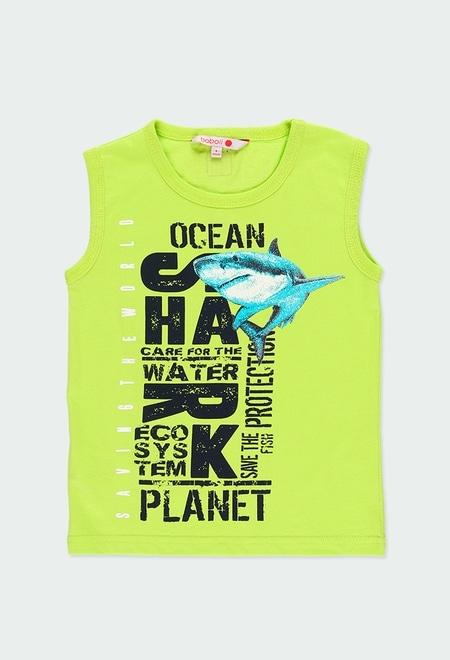 "Knit t-Shirt ""sharks"" for boy_1"