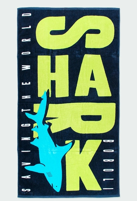 "Toalha ""sharks"" para menino_1"
