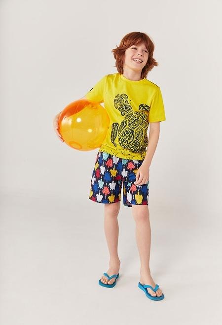 "Camiseta malha ""tartaruga"" para menino_1"