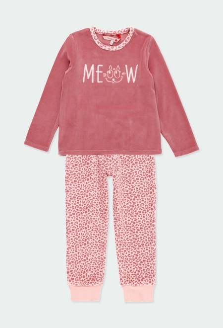 Velour pyjamas for girl_1