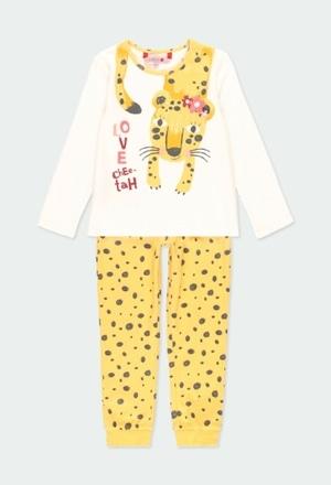 Pijama interlock animal print de niña_1