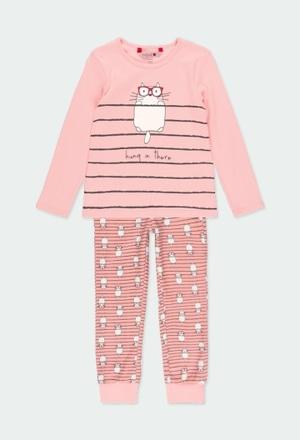 "Pijama interlock ""gatos"" de niña_1"