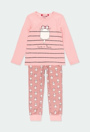 "Pijama interlock ""gatos"" para menina_1"