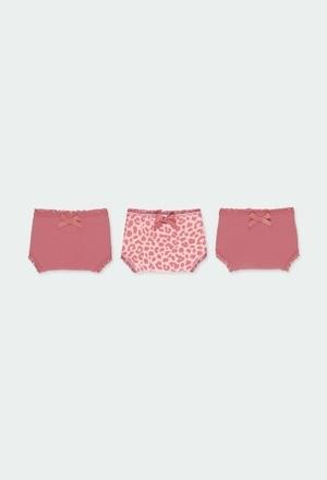 Pack de 3 culottes maille pour fille_1