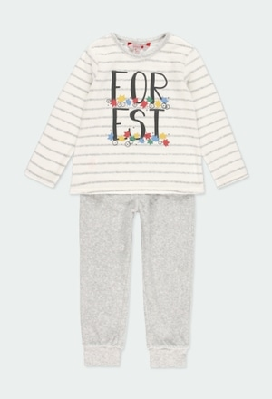 Velour pyjamas striped for girl_1