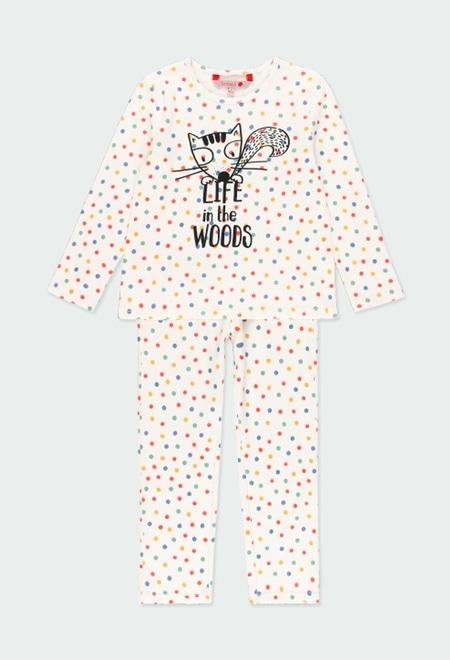 Pyjama a petits pois pour fille_1