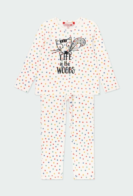 Interlock pyjamas polka dot for girl_1