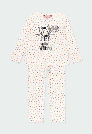 Schlafanzug interlock polkatüpfel für mädchen_1