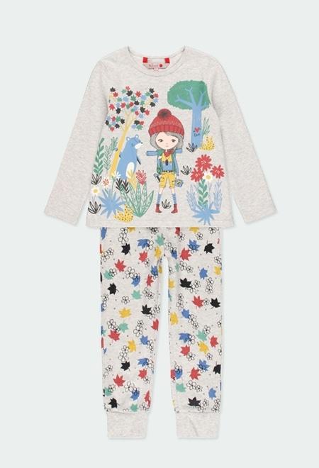 "Pyjama ""feuilles"" pour fille_1"