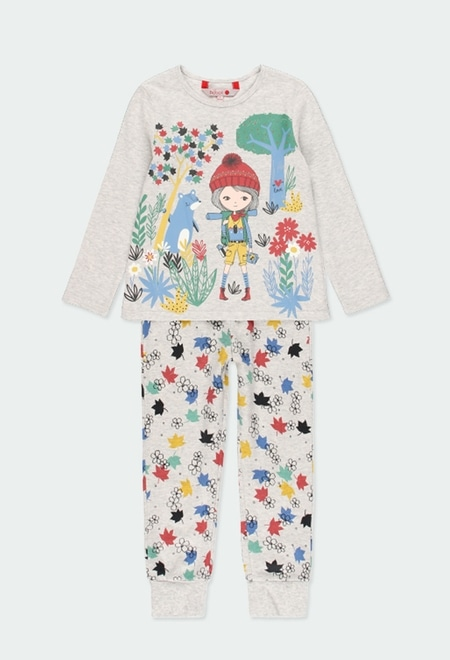 "Interlock pyjamas ""leaves"" for girl_1"