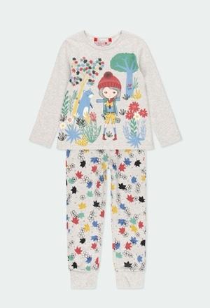 "Interlock pyjamas ""leaves"" for girl_1"