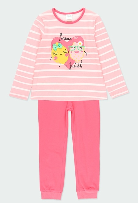 """Knit pyjamas """"heart"""" for girl_1"""