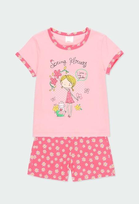 """Pyjama en tricot """"a fleurs"""" pour fille_1"""