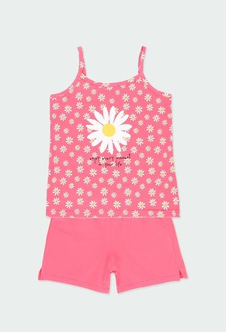 Knit pyjamas suspenders for girl_1