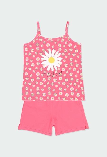 Pijama malha suspensórios para menina_1