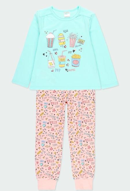 Pyjama en tricot manche longue pour fille_1