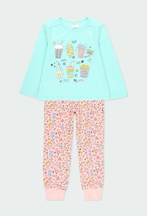 Pijama malha manga comprida para menina_1