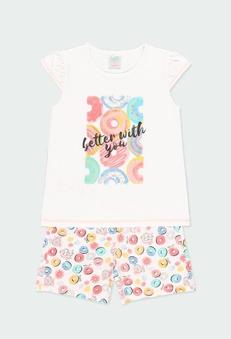 Knit pyjamas for girl_1