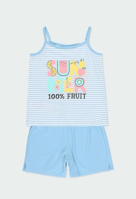 "Knit pyjamas ""summer"" for girl_1"