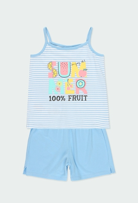 """Pijama malha """"summer"""" para menina_1"""