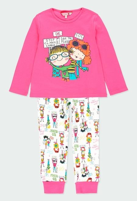 Interlock pyjamas printed for girl_1