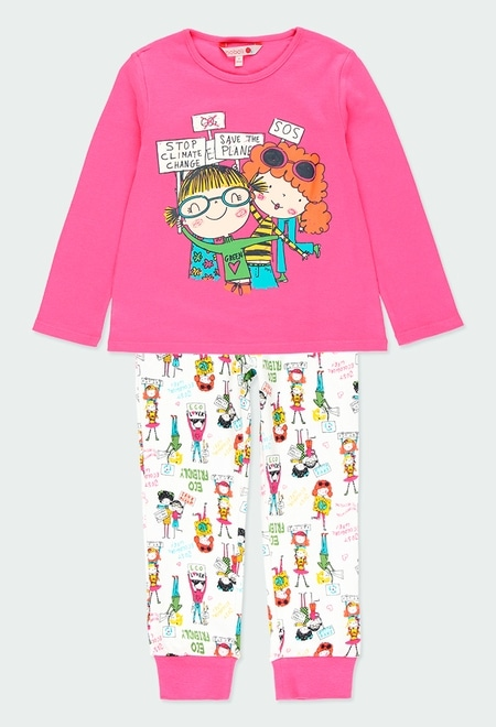 Pijama interlock estampado niñas de niña_1