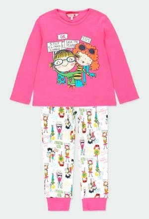 Pijama interlock estampado para menina_1