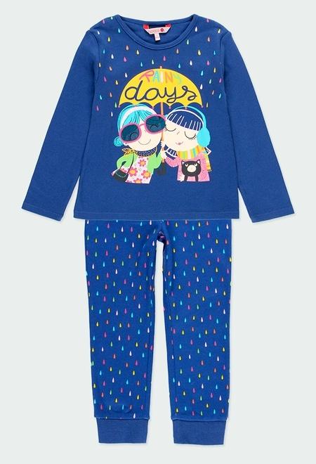 """Pijama interlock """"gotas"""" de niña_1"""