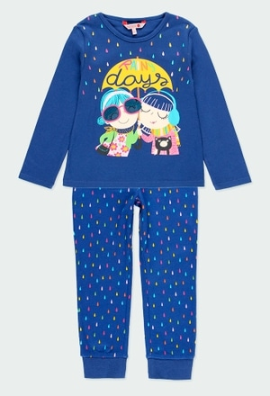 """Pyjama """"gouttes d'eau"""" pour fille_1"""