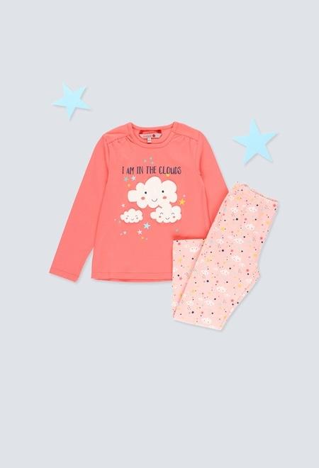 Stretch knit pyjamas for girl_1