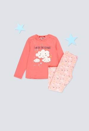 Pijama punto elástico de niña_1