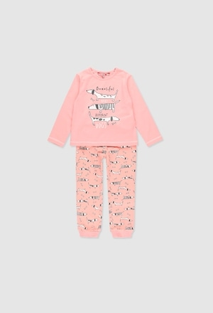 Stretch knit pyjamas for girl_1