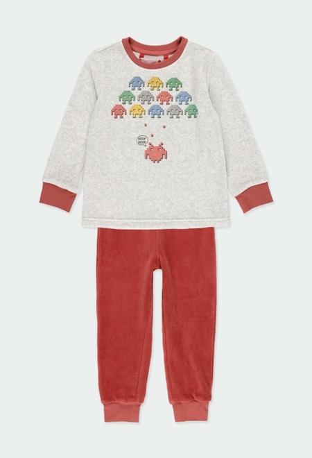 "Pijama terciopelo ""games"" de niño_1"